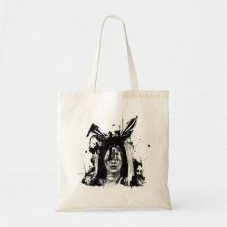 Dark Bunny Tote Canvas Bag