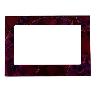 Dark Burgundy Bling Abstract Magnetic Photo Frame