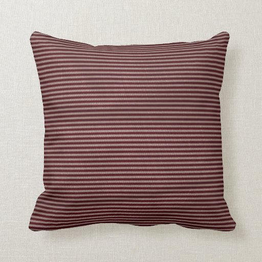 dark burgundy red stripes throw pillow