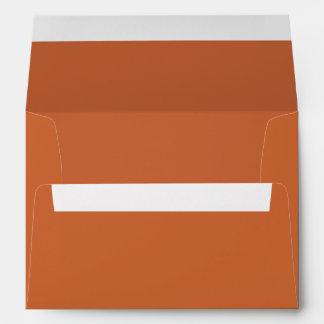 Dark Burnt Orange 5x7 Blank Envelopes