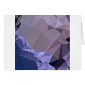 Dark Byzantium Purple Abstract Low Polygon Backgro Card
