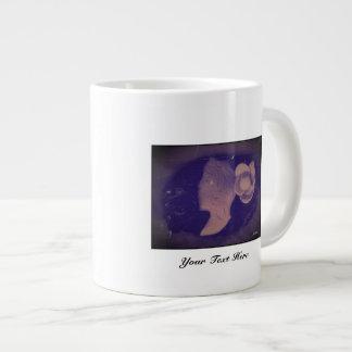 Dark Cameo Large Coffee Mug