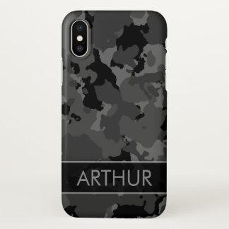 Dark Camo Custom iPhone X Case