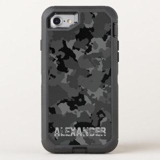 Dark Camo Name Template OtterBox Defender iPhone 7 Case