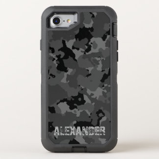 Dark Camo Name Template OtterBox Defender iPhone 8/7 Case