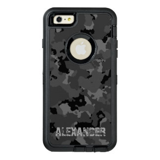 Dark Camo Name Template OtterBox Defender iPhone Case