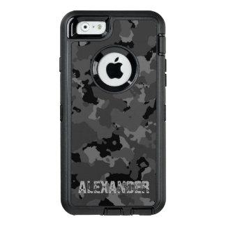 Dark Camo Name Template OtterBox Defender iPhone Case