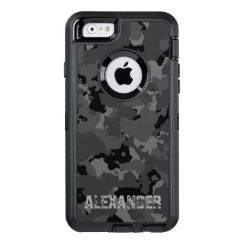 Dark Camo Name Template Otterbox Defender Iphone Case by JerryLambert at Zazzle