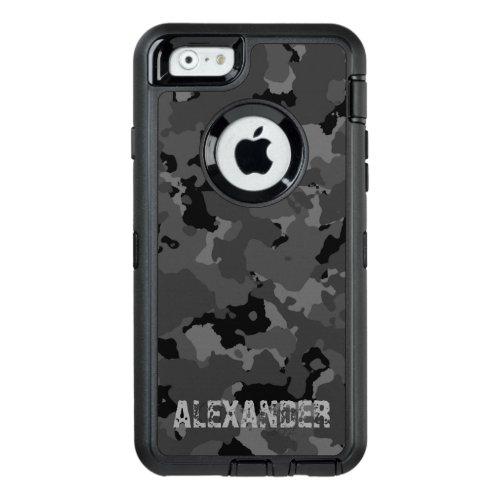 Dark Camo Name Template Phone Case