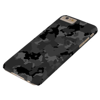 Dark Camo Pattern Barely There iPhone 6 Plus Case