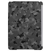 Dark Camo Pattern iPad Air Cover