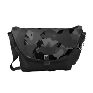 Dark Camo Pattern Courier Bags
