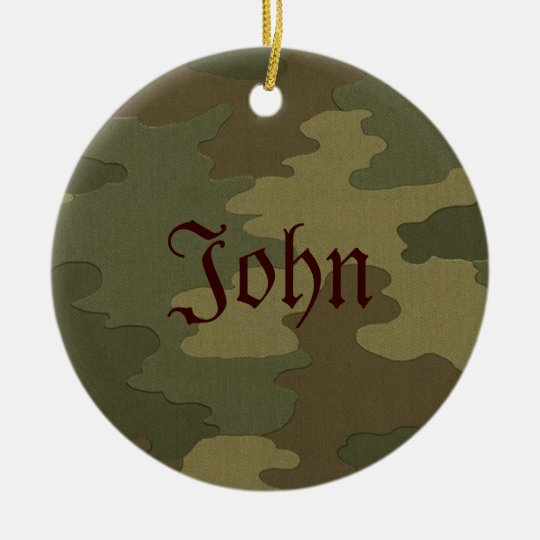 Dark Camouflage Name Ornament