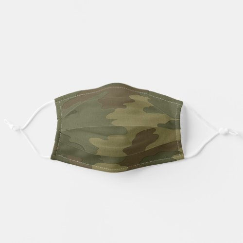 Dark Camouflage Pattern Cloth Face Mask