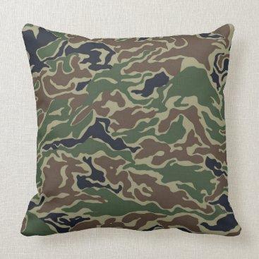 Dark Camouflage throw Pillow