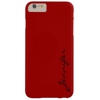Dark candy apple red color background barely there iPhone 6 plus case