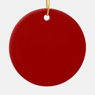 Dark Candy Apple Red Christmas Tree Ornament