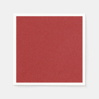Dark Candy Apple Red Star Dust Paper Napkin