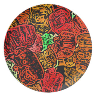 dark candy bears sketch abstract food melamine plate