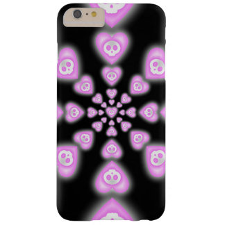 Dark Candy hearts and Skulls Barely There iPhone 6 Plus Case