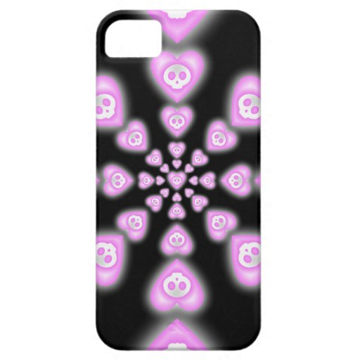 Dark Candy hearts and Skulls iphone 5 case