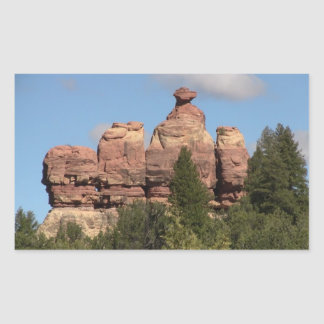 Dark Canyon Utah Landscapes Skyscapes Waterscapes Rectangular Sticker