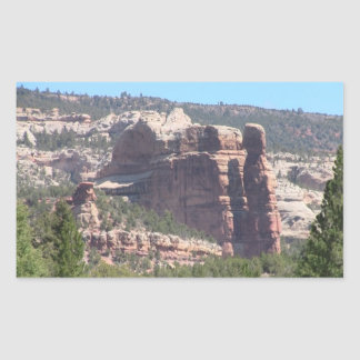 Dark Canyon Utah Landscapes Skyscapes Waterscapes Rectangular Stickers