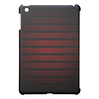 Dark carved wood and black stripes, glow effect cover for the iPad mini