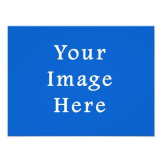Dark Cerulean Blue Color Trend Blank Template Photo Art