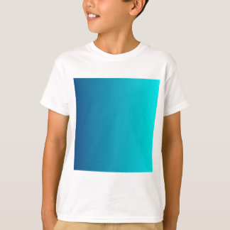 Dark Cerulean to Aqua Vertical Gradient T-Shirt
