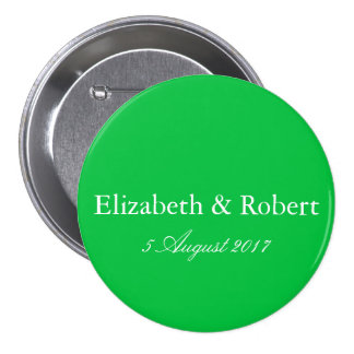 Dark Chalky Pastel Green Wedding Decoration Set Pinback Button