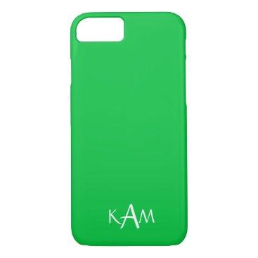 Beach Themed Dark Chalky Pastel Green Wedding Party Set iPhone 7 Case