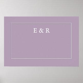 Dark Chalky Pastel Purple Wedding Decoration