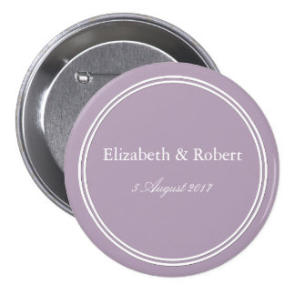 Dark Chalky Pastel Purple Wedding Decoration Pinback Button