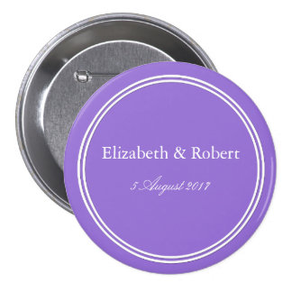 Dark Chalky Pastel Purple Wedding Decoration Set Button