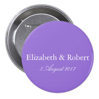 Dark Chalky Pastel Purple Wedding Decoration Set Pinback Button