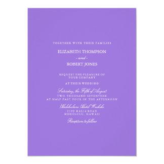 Dark Chalky Pastel Purple Wedding Invitation Set