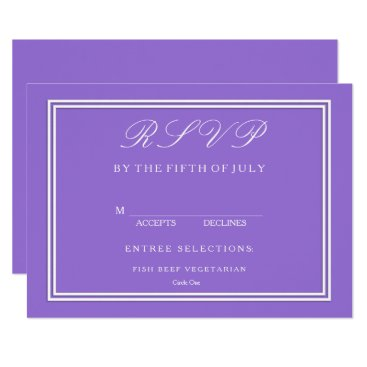 Beach Themed Dark Chalky Pastel Purple Wedding Invitation Set