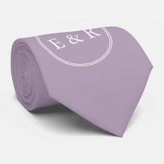 Dark Chalky Pastel Purple Wedding Party Gifts Neck Tie