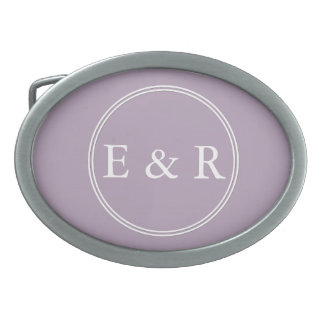 Dark Chalky Pastel Purple Wedding Party Gifts Oval Belt Buckle