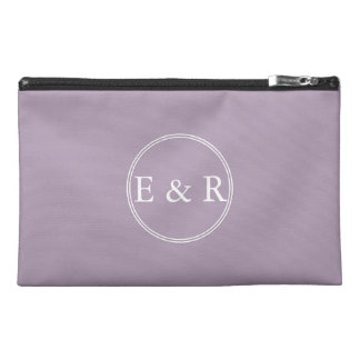 Dark Chalky Pastel Purple Wedding Party Gifts Travel Accessory Bags