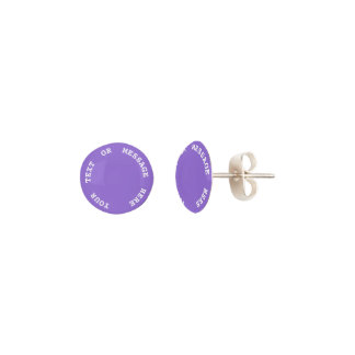 Dark Chalky Pastel Purple Wedding Party Set Earrings