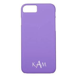 Dark Chalky Pastel Purple Wedding Party Set iPhone 7 Case
