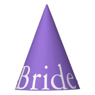Dark Chalky Pastel Purple Wedding Party Set Party Hat