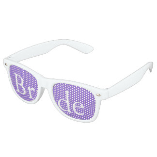 Dark Chalky Pastel Purple Wedding Party Set Retro Sunglasses