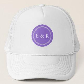 Dark Chalky Pastel Purple Wedding Party Set Trucker Hat