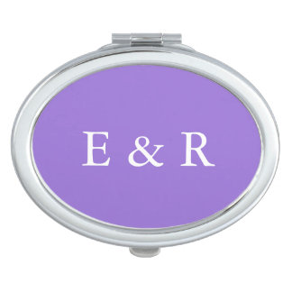 Dark Chalky Pastel Purple Wedding Party Set Vanity Mirror