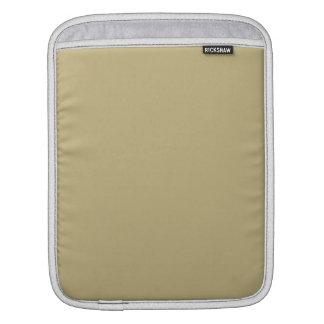 Dark Champagne Solid Color iPad Sleeve