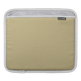 Dark Champagne Solid Color iPad Sleeves