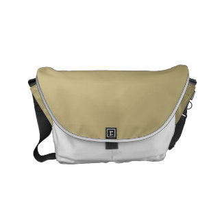 Dark Champagne Solid Color Small Messenger Bag